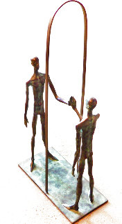 Mirror Bronze Sculpture 1999 34 in Sculpture - Dimitry Gerrman