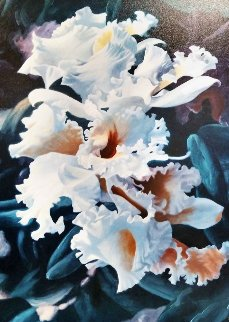 Orchid Rhapsody Embellished Canvas  1998 Limited Edition Print - Michael Gerry