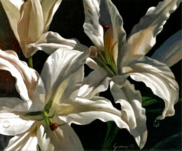 Untitled Floral Painting 31x38 Original Painting - Michael Gerry