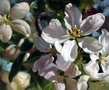 Magnolia Flower 1994 28x32 Original Painting - Michael Gerry