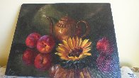 Sunflower 12x16 Original Painting by Michael Gerry - 3