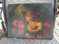 Sunflower 12x16 Original Painting by Michael Gerry - 6