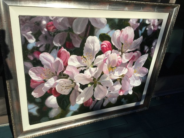 Apple Blossoms 1980 59x47 Original Painting by Michael Gerry