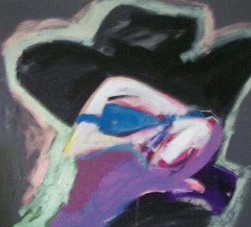 Faceoff, Suite of 3 Paintings 1988 102 in wide Original Painting - Bill Gersh