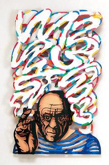 Last Great Smoker Aluminum Sculpture 1997 45 in Sculpture - David Gerstein
