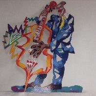 Pre-blue Note A, B, C Metal Sculpture 1995 29x42 Huge Sculpture by David Gerstein - 2