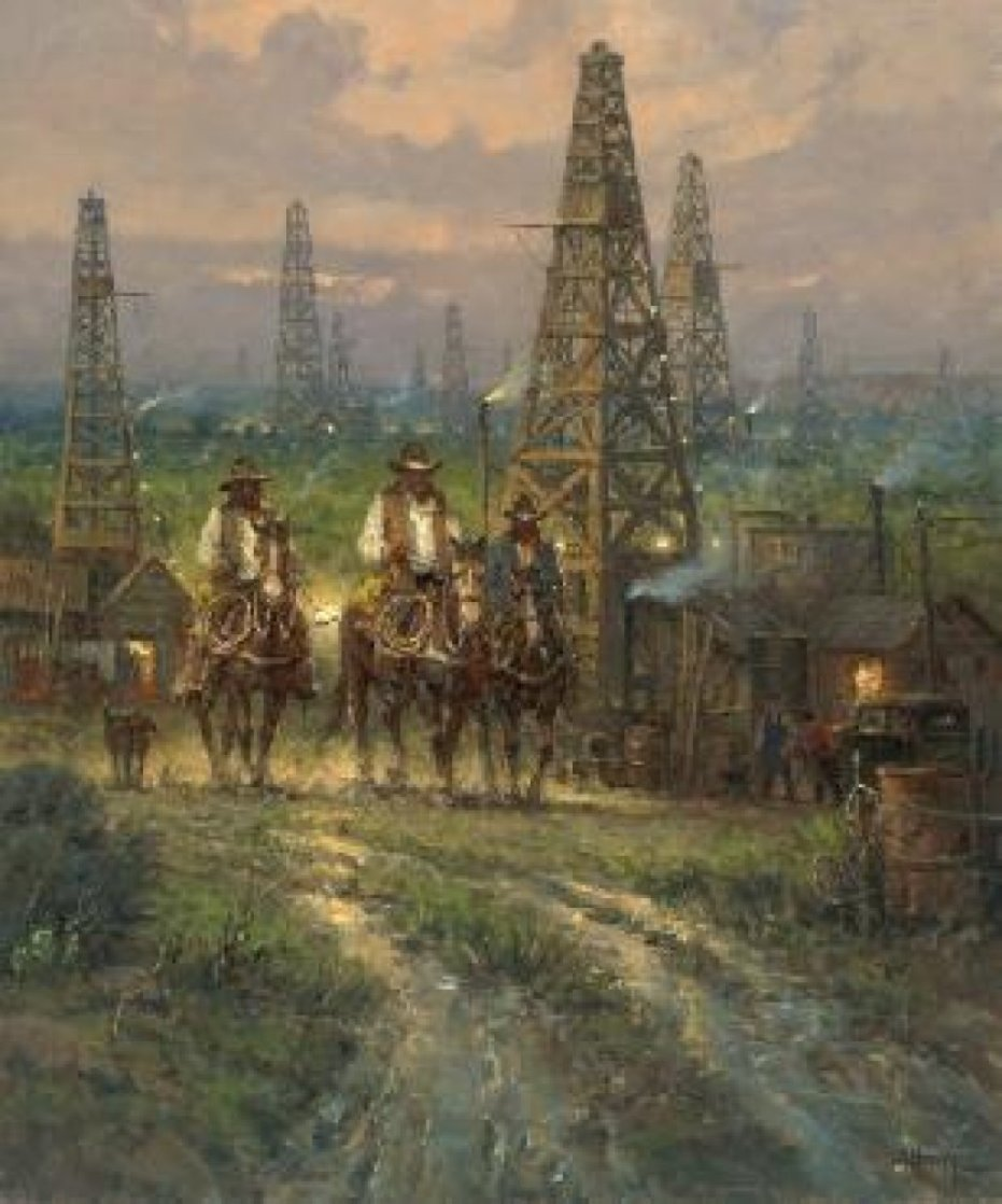 Drifting Through the Oilpatch 2011 Limited Edition Print by G. Harvey