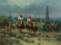 Oil Patch Cowhands 2007 Limited Edition Print by G. Harvey - 0