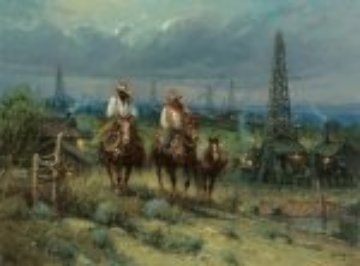 Oil Patch Cowhands 2007 Limited Edition Print by G. Harvey