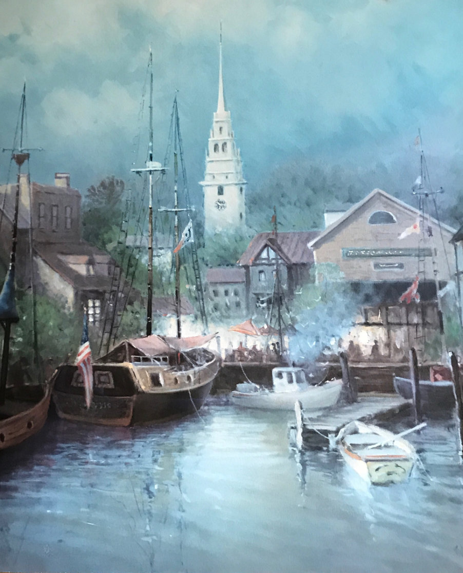 New England Harbor 1998 Limited Edition Print by G. Harvey