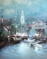 New England Harbor 1998 Limited Edition Print by G. Harvey - 0