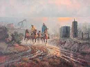 Twentieth Century Ranching 1981 Limited Edition Print - G. Harvey