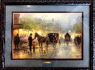 Cabbies At the Market 1996 Limited Edition Print by G. Harvey - 1