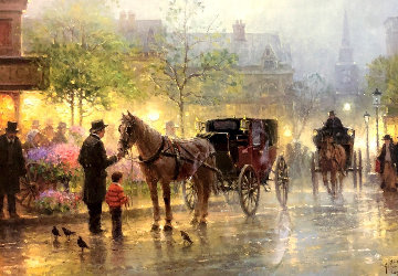 Cabbies At the Market 1996 Limited Edition Print by G. Harvey