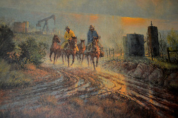 Twentieth Century Ranching AP 1981  Limited Edition Print - G. Harvey