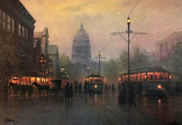 Lights Along the Avenue Washington D.C. Limited Edition Print - G. Harvey