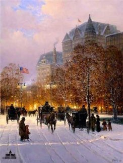 A Stroll on the Plaza 1998 Limited Edition Print by G. Harvey
