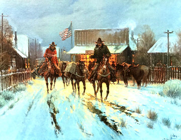 Trading at the General Store 1983 Limited Edition Print by G. Harvey