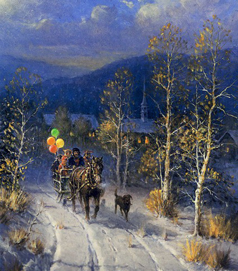 Jingle Bells And Powder Snow 1999 Limited Edition Print by G. Harvey