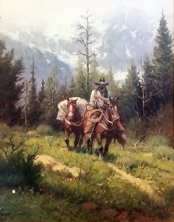 Untitled (Cowboy With Pack Horse) Limited Edition Print - G. Harvey