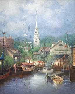 New England Harbor 1998 Limited Edition Print - G. Harvey