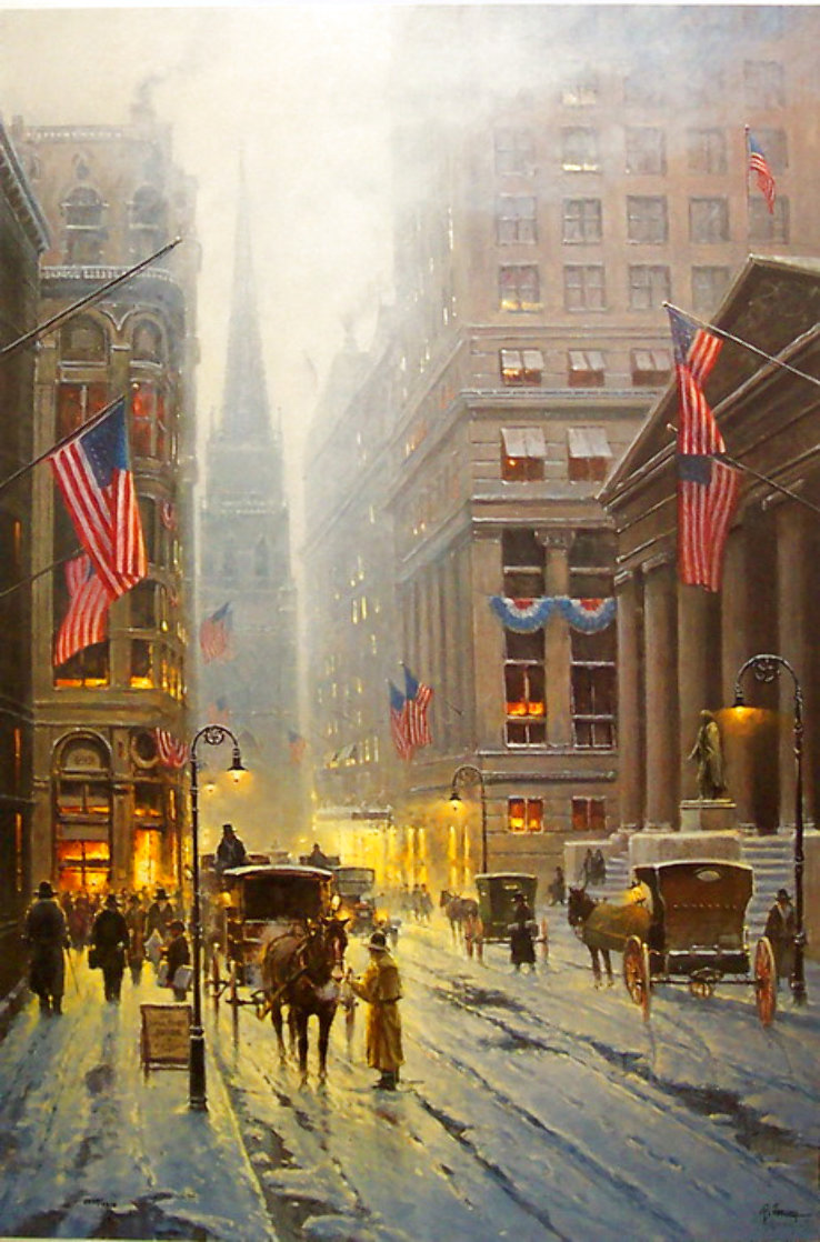 Wall Street, New York 1989 Limited Edition Print by G. Harvey