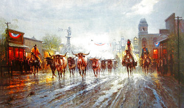 Cowboy's Payday Limited Edition Print - G. Harvey