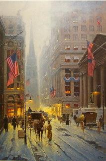 Wall Street New York 1989 Limited Edition Print - G. Harvey