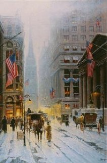 Wall Street - New York 1989 Limited Edition Print by G. Harvey