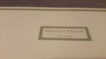 Whosoever Believeth  1991 Limited Edition Print - G. Harvey