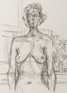 Nu Aux Fleurs 1960 Limited Edition Print - Alberto Giacometti