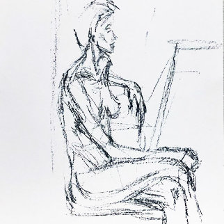 Derriere Le Miroir 127 1961 Limited Edition Print by Alberto Giacometti