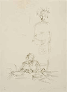 Artists Mother Reading III 1964 Limited Edition Print by Alberto Giacometti