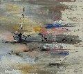 Untitled Painting 2010 31x34 Original Painting - Gino Hollander