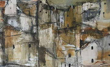 Untitled 1968 24x49 Original Painting by Gino Hollander