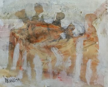 Dream Figures 1974 10x12 Works on Paper (not prints) by Gino Hollander