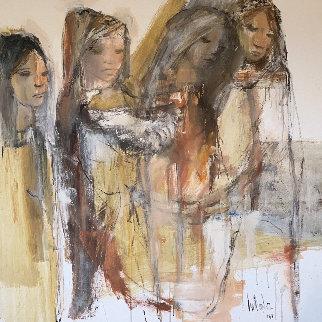 Untitled Painting 1968 48x48 Super Huge Original Painting - Gino Hollander