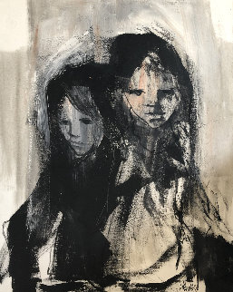 Sister 1969 40x30 Original Painting - Gino Hollander