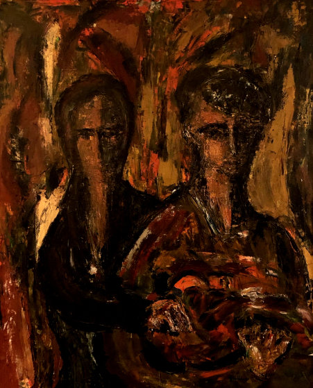 Untitled Painting 1959 44x37 by Gino Hollander