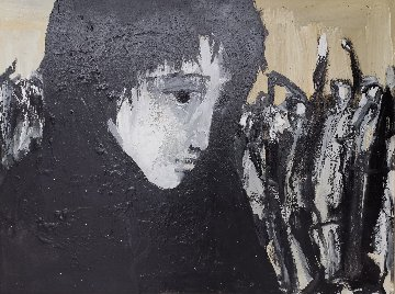 Untitled (Portrait of a Woman) 1983 32x42 Original Painting by Gino Hollander