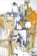 Untitled Landscape 1978 30x20 Original Painting by Gino Hollander - 0
