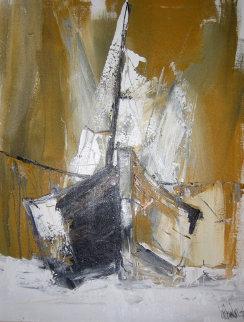 Untitled VI 1979 42x32 Huge Original Painting - Gino Hollander