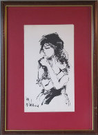Untitled (Portrait) 1968 Original Painting by Gino Hollander - 1