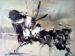 Bull 30x40 Original Painting - Gino Hollander