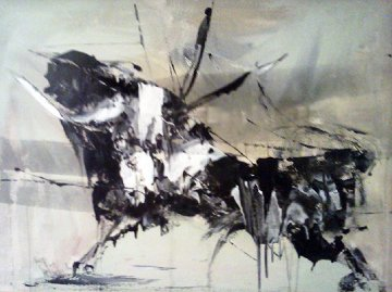 Bull 30x40 Original Painting - Gino Hollander