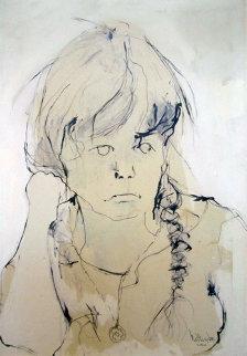 Portrait of Heidi 1962 34x24 Original Painting by Gino Hollander