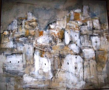 Pueblos 1967 60x73 Original Painting - Gino Hollander