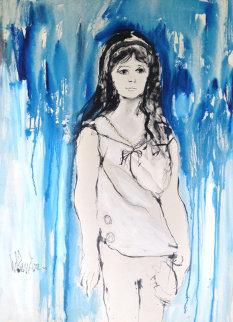 Melissa 1962 46x33 Huge Original Painting - Gino Hollander