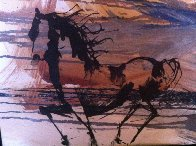 Portrait of a Horse 16x20 Original Painting by Gino Hollander - 1