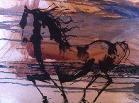 Portrait of a Horse 16x20 Original Painting by Gino Hollander - 0